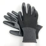 Перчатки нейлоновые с нитриловым покрытием Черный Черный