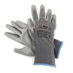 Перчатки нейлоновые с полиуретановым покрытием Серые