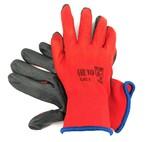 Перчатки нейлоновые с нитриловым покрытием Красный Черный