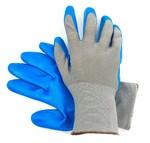 Перчатки нейлоновые с нитриловым покрытием Серый Синий