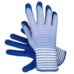 Перчатки нейлоновые с нитриловым покрытием зебра