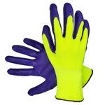 Перчатки нейлоновые с нитриловым покрытием Зеленый Фиолетовый