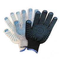 Перчатки ХБ 3 нитка 10 класс с ПВХ точка (эконом)