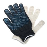 Перчатки ХБ 6 нитка 10 класс с ПВХ точка
