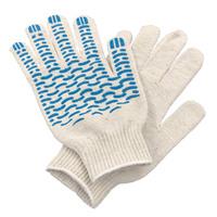 Перчатки ХБ 6 нитка 10 класс с ПВХ волна
