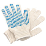 Перчатки ХБ 6 нитка 10 класс с ПВХ протектор