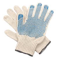 Перчатки ХБ 4 нитка 7,5 класс с ПВХ точка