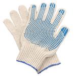 Перчатки ХБ 5 нитка 7,5 класс с ПВХ точка
