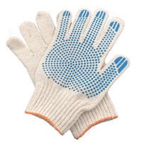 Перчатки ХБ 6 нитка 7,5 класс с ПВХ точка