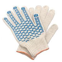 Перчатки ХБ 6 нитка 7,5 класс с ПВХ волна