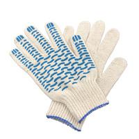 Перчатки ХБ 4 нитка 7,5 класс с ПВХ волна