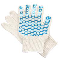 Перчатки ХБ 5 нитка 7,5 класс с ПВХ волна