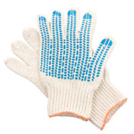 Перчатки ХБ 6 нитка 7,5 класс с ПВХ протектор