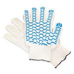 Перчатки ХБ 4 нитка 10 класс с ПВХ волна