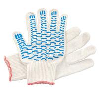 Перчатки ХБ 5 нитка 10 класс с ПВХ волна