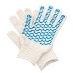 Перчатки ХБ 5 нитка 10 класс с ПВХ волна (люкс)