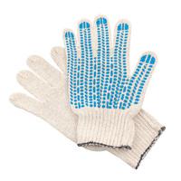 Перчатки ХБ 4 нитка 7,5 класс с ПВХ протектор