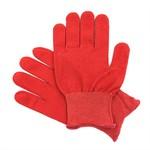 Перчатки нейлоновые красные Микроточка (Россия)