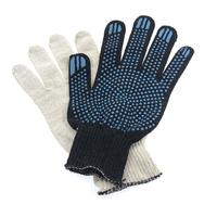 Перчатки ХБ 4 нитка 10 класс с ПВХ точка