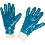 Перчатки Нитриловые Резинка Синие